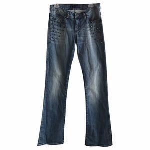 Rock & Republic Kassandra Jeans w/Spiked Studs 6